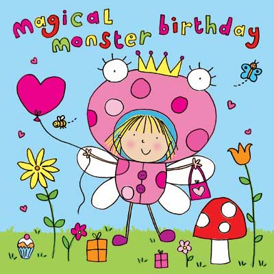 Uk greetings cards illustrator designing best sellers available girls monster birthday card for international greetings m4hsunfo